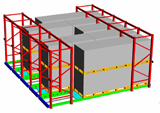 Automated Ground Bulk Warehouse for Palletized Piece Goods